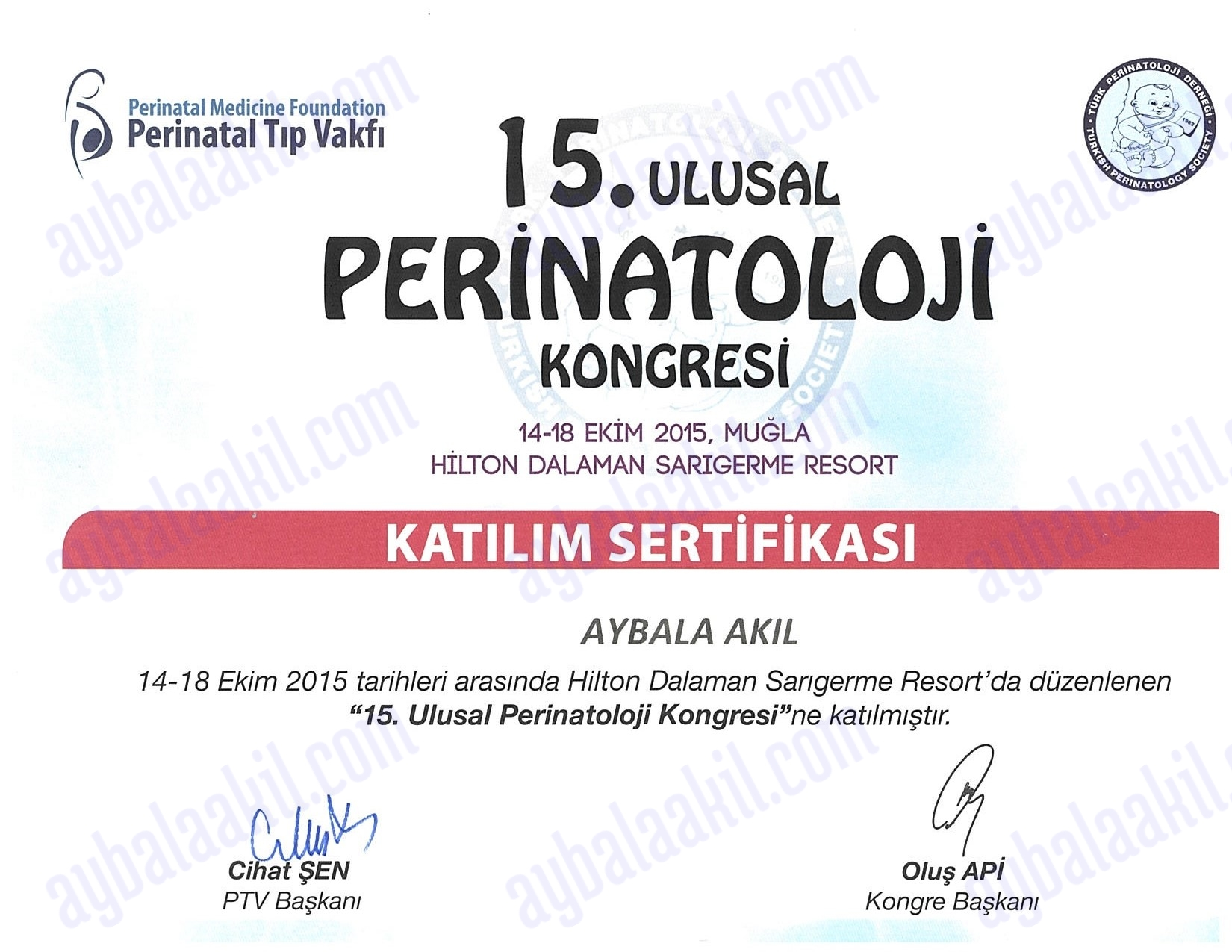 15. Ulusal Perinatoloji Kongresi gerçekleşti…