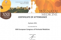 XXII. Europan Congress of Perinatal Medicine