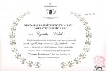 Neonatal Resüsitasyon Programı Uygulayıcı Sertifikası