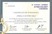 IX. Turkish - German Gynecology Congress