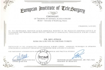 Certificate of Training in Minimal Access Surgery